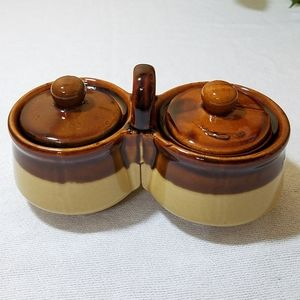 Relish Dual Crock, Vintage